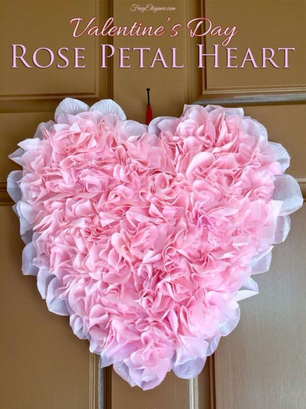DIY Ideas With Rose Petals - DIY Bridal Shower Decor - Crafts and DIY Projects, Recipes You Can Make With Rose Petals - Creative Home Decor and Gift Ideas Make Awesome Mothers Day and Christmas Gifts - Crafts and Do It Yourself by DIY JOY #rosecrafts #diygifts