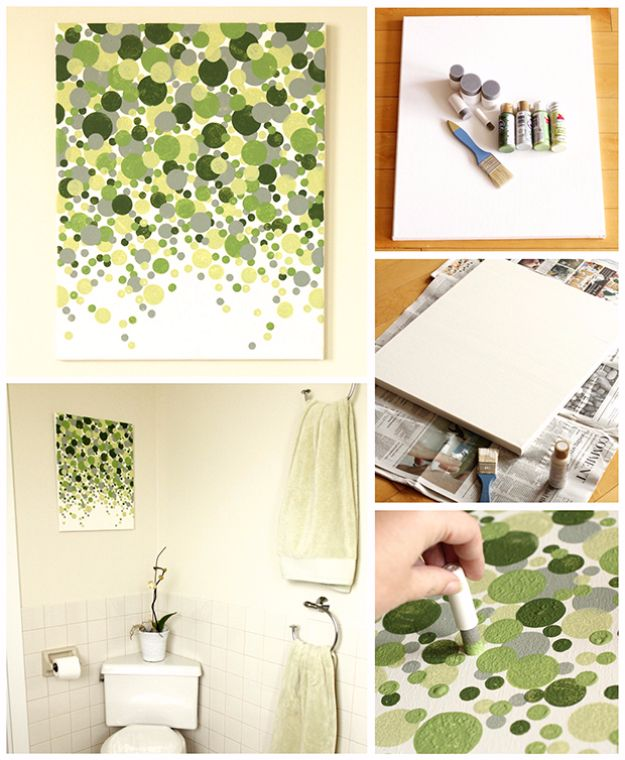 surprising Do It Yourself Canvas Painting Part - 6: DIY Canvas Painting Ideas - DIY Canvas Painting Anyone Can Make - Cool and  Easy Wall