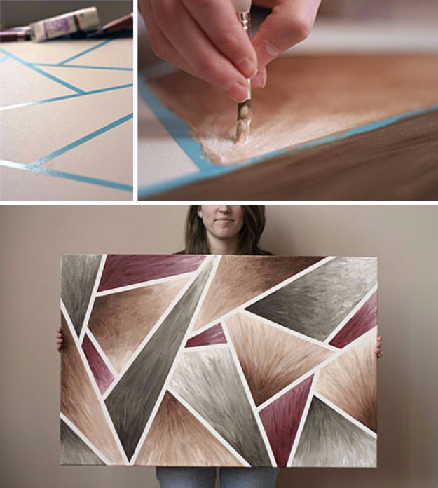 DIY Canvas Painting Ideas - DIY Easy-Peasy Artwork - Cool and Easy Wall Art Ideas You Can Make On A Budget #painting #diyart #diygifts