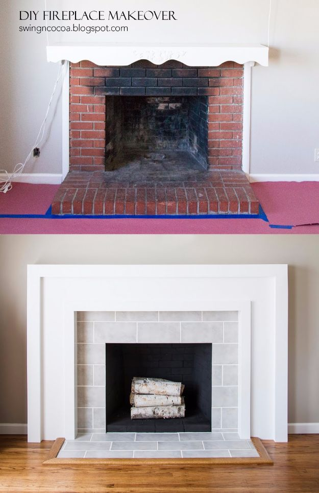 DIY Home Improvement On A Budget - DIY Fireplace Makeover - Easy and Cheap Do It Yourself Tutorials for Updating and Renovating Your House - Home Decor Tips and Tricks, Remodeling and Decorating Hacks - DIY Projects and Crafts by DIY JOY #diy