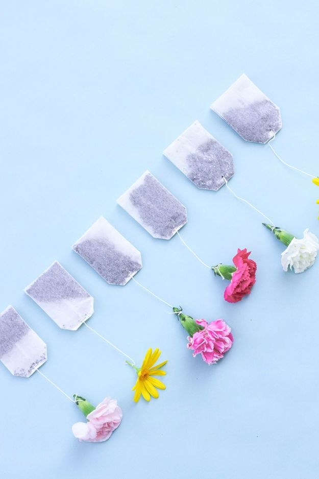 DIY Mothers Day Gift Ideas - DIY Floral Tea Bags - Homemade Gifts for Moms - Crafts and Do It Yourself Home Decor, Accessories and Fashion To Make For Mom - Mothers Love Handmade Presents on Mother's Day - DIY Projects and Crafts by DIY JOY http://diyjoy.com/diy-mothers-day-gifts