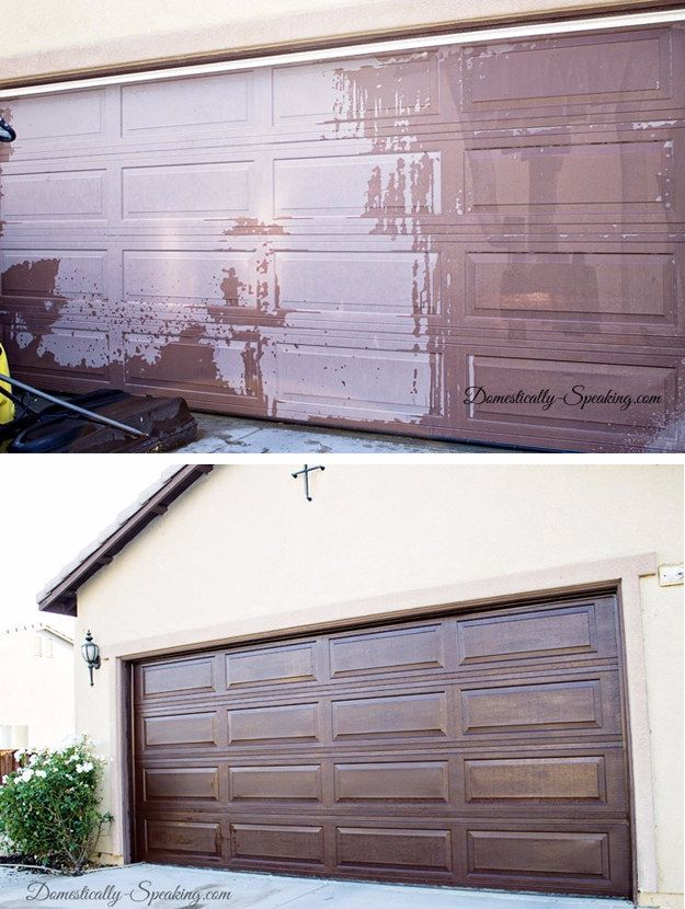 DIY Home Improvement On A Budget - DIY Garage Door Makeover - Easy and Cheap Do It Yourself Tutorials for Updating and Renovating Your House - Home Decor Tips and Tricks, Remodeling and Decorating Hacks - DIY Projects and Crafts by DIY JOY http://diyjoy.com/diy-home-improvement-ideas-budget