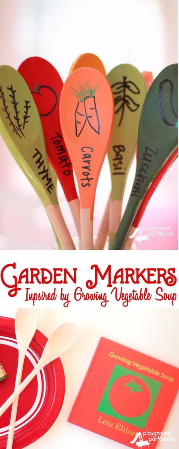 DIY Mothers Day Gift Ideas - DIY Garden Markers - Homemade Gifts for Moms - Crafts and Do It Yourself Home Decor, Accessories and Fashion To Make For Mom - Mothers Love Handmade Presents on Mother's Day - DIY Projects and Crafts by DIY JOY