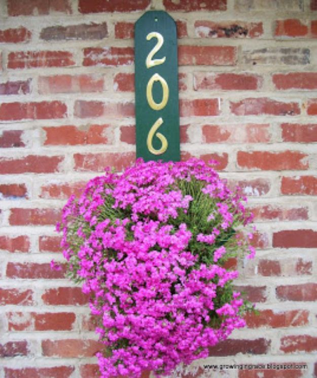 DIY House Numbers - DIY House Number Flower Hanger - DIY Numbers To Put In Front Yard and At Front Door - Architectural Numbers and Creative Do It Yourself Projects for Making House Numbers - Easy Step by Step Tutorials and Project Ideas for Home Improvement on A Budget #homeimprovement #diyhomedecor