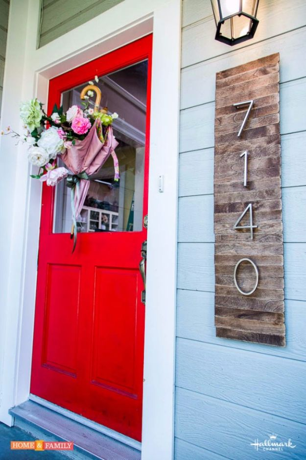 DIY House Numbers - DIY House Numbers Sign From Pallets - DIY Numbers To Put In Front Yard and At Front Door - Architectural Numbers and Creative Do It Yourself Projects for Making House Numbers - Easy Step by Step Tutorials and Project Ideas for Home Improvement on A Budget #homeimprovement #diyhomedecor