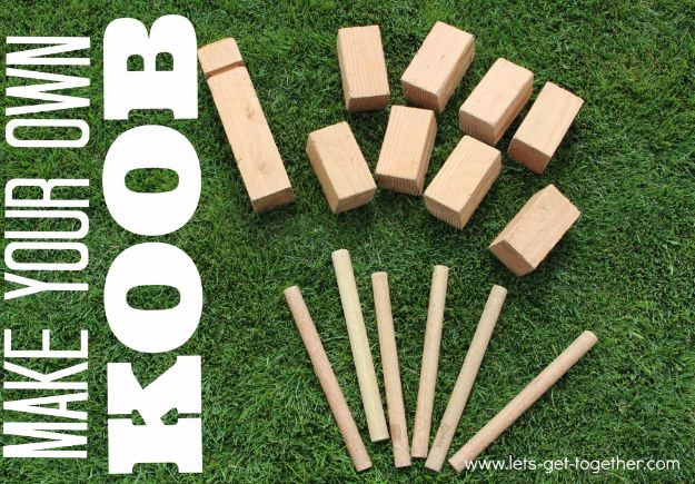 Best DIY Backyard Games - DIY Koob Game - Cool DIY Yard Game Ideas for Adults, Teens and Kids - Easy Tutorials for Cornhole, Washers, Jenga, Tic Tac Toe and Horseshoes - Cool Projects for Outdoor Parties and Summer Family Fun Outside #diy #backyard #kids #games