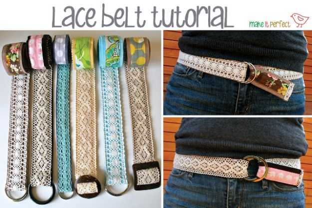 DIY Mothers Day Gift Ideas - DIY Lace Belt - Homemade Gifts for Moms - Crafts and Do It Yourself Home Decor, Accessories and Fashion To Make For Mom - Mothers Love Handmade Presents on Mother's Day - DIY Projects and Crafts by DIY JOY http://diyjoy.com/diy-mothers-day-gifts