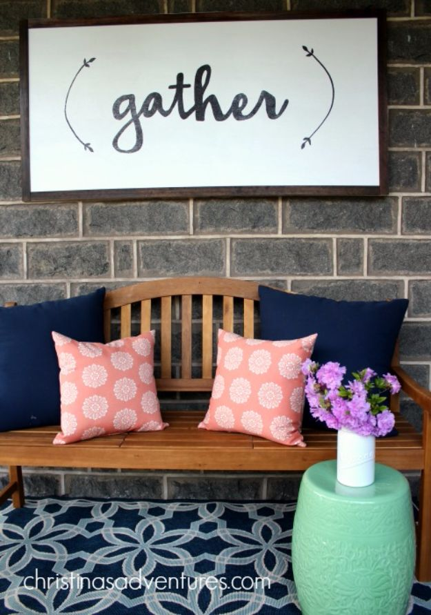 DIY Wall Letters and Word Signs - DIY Large Wood Sign - Initials Wall Art for Creative Home Decor Ideas - Cool Architectural Letter Projects and Wall Art Tutorials for Living Room Decor, Bedroom Ideas. Girl or Boy Nursery. Paint, Glitter, String Art, Easy Cardboard and Rustic Wooden Ideas - DIY Projects and Crafts by DIY JOY http://diyjoy.com/diy-letter-word-signs