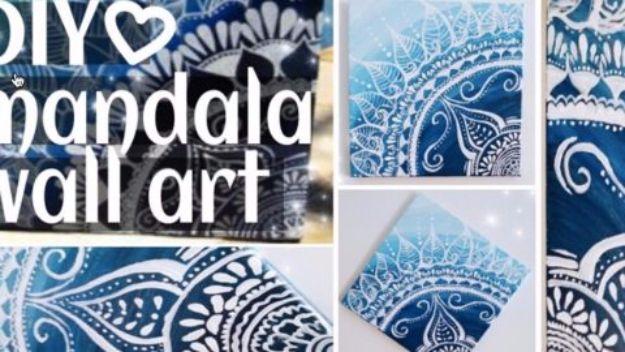 DIY Canvas Painting Ideas - DIY Mandala Painting - Cool and Easy Wall Art Ideas You Can Make On A Budget #painting #diyart #diygifts