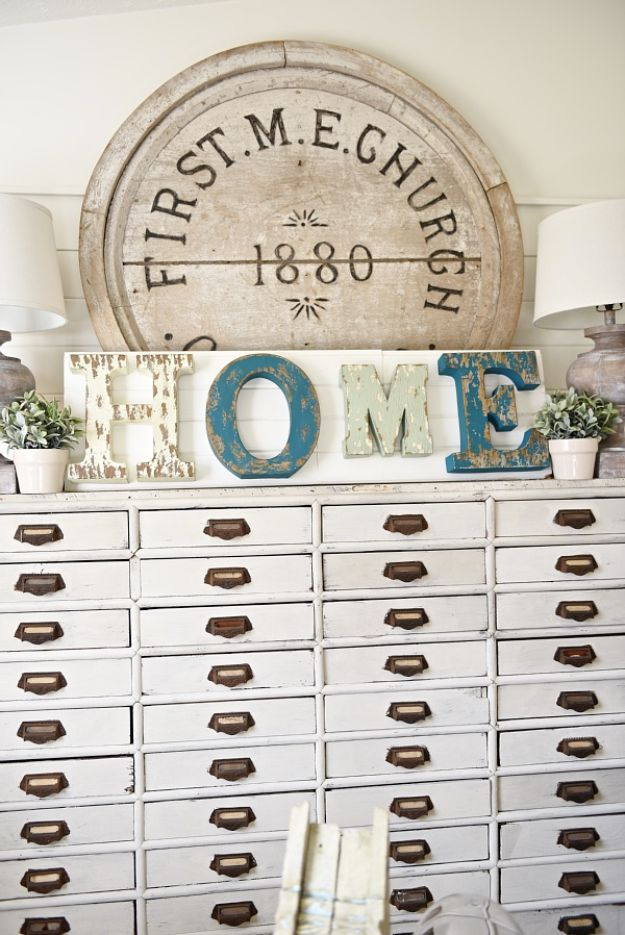 DIY Wall Letters and Word Signs - DIY Metal Letter Signs - Initials Wall Art for Creative Home Decor Ideas - Cool Architectural Letter Projects and Wall Art Tutorials for Living Room Decor, Bedroom Ideas. Girl or Boy Nursery. Paint, Glitter, String Art, Easy Cardboard and Rustic Wooden Ideas - DIY Projects and Crafts by DIY JOY #diysigns #diyideas #diyhomedecor