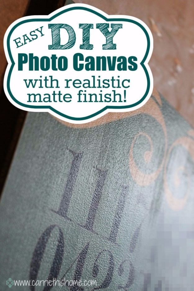 DIY Canvas Painting Ideas - DIY Photo Canvas - Cool and Easy Wall Art Ideas You Can Make On A Budget #painting #diyart #diygifts