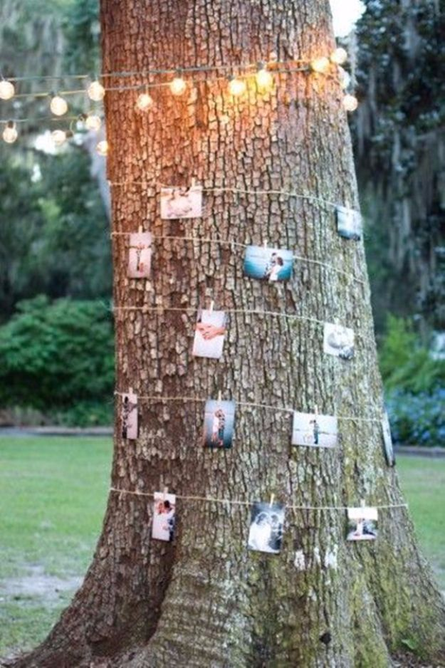 DIY Outdoors Wedding Ideas - DIY Photo Walls For An Outdoor Wedding - Step by Step Tutorials and Projects Ideas for Summer Brides - Lighting, Mason Jar Centerpieces, Table Decor, Party Favors, Guestbook Ideas, Signs, Flowers, Banners, Tablecloth #wedding #diy