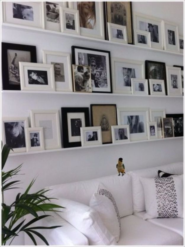 Tips and Tricks for Hanging Photos and Frames - DIY Picture Ledge - Step By Step Tutorials and Easy DIY Home Decor Projects for Decorating Walls - Cool Wall Art Ideas for Bedroom, Living Room, Gallery Walls - Creative and Cheap Ideas for Displaying Photos and Prints - DIY Projects and Crafts by DIY JOY #diydecor #decoratingideas