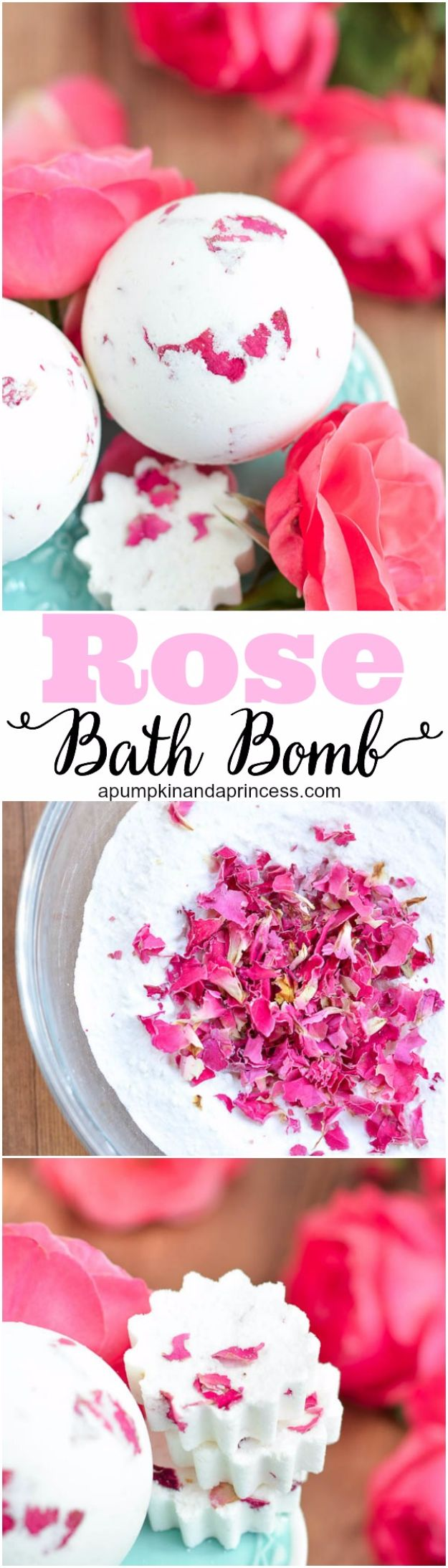 DIY Ideas With Rose Petals - DIY Rose And Milk Bath Bomb - Crafts and DIY Projects, Recipes You Can Make With Rose Petals - Creative Home Decor and Gift Ideas Make Awesome Mothers Day and Christmas Gifts - Crafts and Do It Yourself by DIY JOY #rosecrafts #diygifts