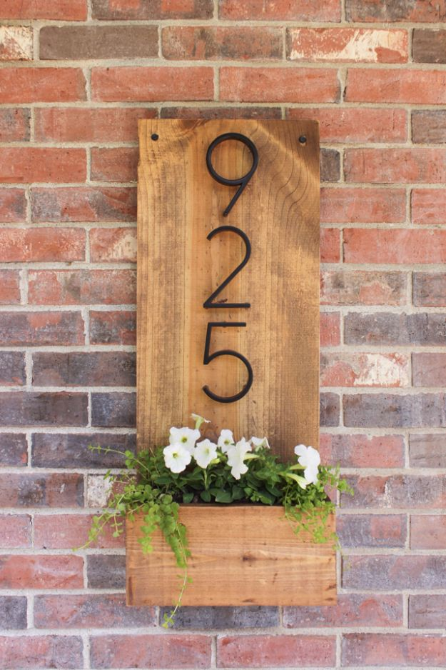 DIY House Numbers - DIY Rustic House Number Sign - DIY Numbers To Put In Front Yard and At Front Door - Architectural Numbers and Creative Do It Yourself Projects for Making House Numbers - Easy Step by Step Tutorials and Project Ideas for Home Improvement on A Budget http://diyjoy.com/diy-house-numbers