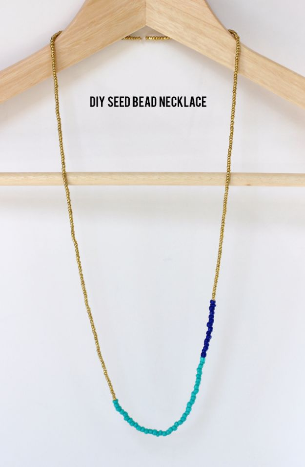 DIY Necklace Ideas - DIY Seed Bead Necklace - Easy Handmade Necklaces with Step by Step Tutorials - Pendant, Beads, Statement, Choker, Layered Boho, Chain and Simple Looks - Creative Jewlery Making Ideas for Women and Teens, Girls - Crafts and Cool Fashion Ideas for Women, Teens and Teenagers #necklaces #diyjewelry #jewelrymaking #teencrafts
