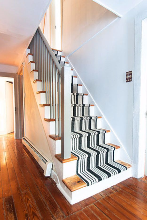 DIY Home Improvement On A Budget - DIY Stair Makeover - Easy and Cheap Do It Yourself Tutorials for Updating and Renovating Your House - Home Decor Tips and Tricks, Remodeling and Decorating Hacks - DIY Projects and Crafts by DIY JOY #diy