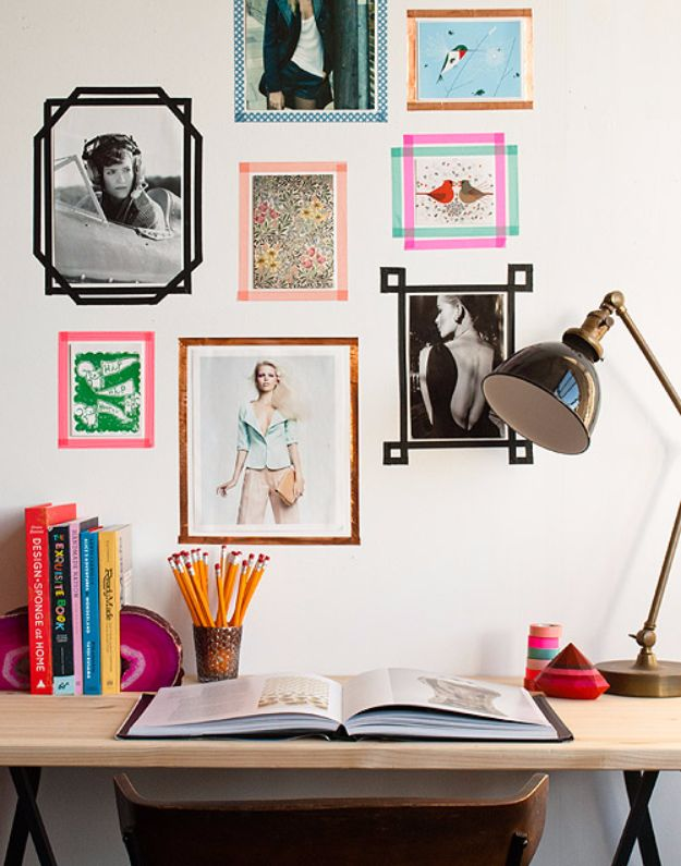 Tips and Tricks for Hanging Photos and Frames - DIY Tape Picture Frame Hangers - Step By Step Tutorials and Easy DIY Home Decor Projects for Decorating Walls - Cool Wall Art Ideas for Bedroom, Living Room, Gallery Walls - Creative and Cheap Ideas for Displaying Photos and Prints - DIY Projects and Crafts by DIY JOY #diydecor #decoratingideas