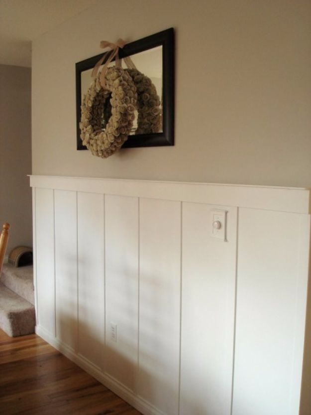 DIY Home Improvement On A Budget - DIY Wainscoting - Easy and Cheap Do It Yourself Tutorials for Updating and Renovating Your House - Home Decor Tips and Tricks, Remodeling and Decorating Hacks - DIY Projects and Crafts by DIY JOY http://diyjoy.com/diy-home-improvement-ideas-budget