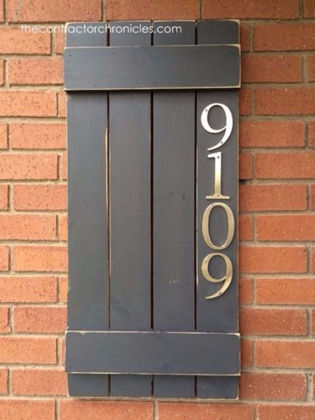 DIY House Numbers - DIY Wooden House Number Sign - DIY Numbers To Put In Front Yard and At Front Door - Architectural Numbers and Creative Do It Yourself Projects for Making House Numbers - Easy Step by Step Tutorials and Project Ideas for Home Improvement on A Budget #homeimprovement #diyhomedecor