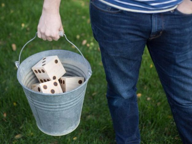 Best DIY Backyard Games - DIY Yard Yahtzee - Cool DIY Yard Game Ideas for Adults, Teens and Kids - Easy Tutorials for Cornhole, Washers, Jenga, Tic Tac Toe and Horseshoes - Cool Projects for Outdoor Parties and Summer Family Fun Outside http://diyjoy.com/diy-backyard-games