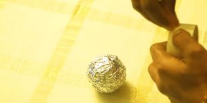 She Rolls Aluminum Foil Into Balls Then What She Adds Next Makes A Beautiful Addition To Your Decor!