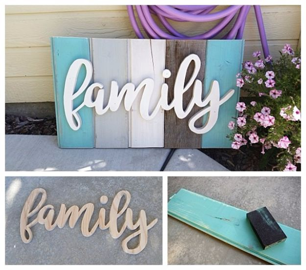DIY Wall Letters and Word Signs - Distressed Barn Wood Word Art - Initials Wall Art for Creative Home Decor Ideas - Cool Architectural Letter Projects and Wall Art Tutorials for Living Room Decor, Bedroom Ideas. Girl or Boy Nursery. Paint, Glitter, String Art, Easy Cardboard and Rustic Wooden Ideas - DIY Projects and Crafts by DIY JOY http://diyjoy.com/diy-letter-word-signs