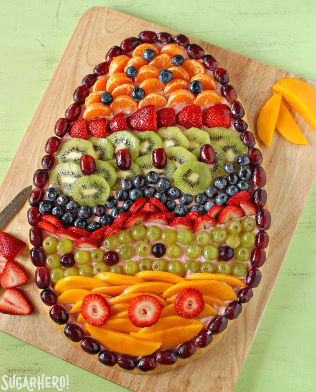Best Easter Dinner Recipes - Easter Fruit Pizza - Easy Recipe Ideas for Easter Dinners and Holiday Meals for Families - Side Dishes, Slow Cooker Recipe Tutorials, Main Courses, Traditional Meat, Vegetable and Dessert Ideas - Desserts, Pies, Cakes, Ham and Beef, Lamb - DIY Projects and Crafts by DIY JOY