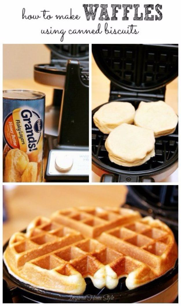 Best Canned Biscuit Recipes - Easy Biscuit Waffles - Cool DIY Recipe Ideas You Can Make With A Can of Biscuits - Easy Breakfast, Lunch, Dinner and Desserts You Can Make From Pillsbury Pull Apart Biscuits - Garlic, Sour Cream, Ground Beef, Sweet and Savory, Ideas with Cheese - Delicious Meals on A Budget With Step by Step Tutorials