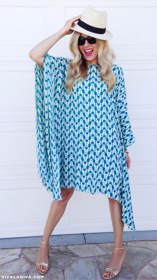 DIY Dresses to Sew for Summer - Easy Caftan Dress - Best Free Patterns For Dress Ideas - Easy and Cheap Clothes to Make for Women and Teens - Step by Step Sewing Projects - Short, Summer, Winter, Fall, Inexpensive DIY Fashion