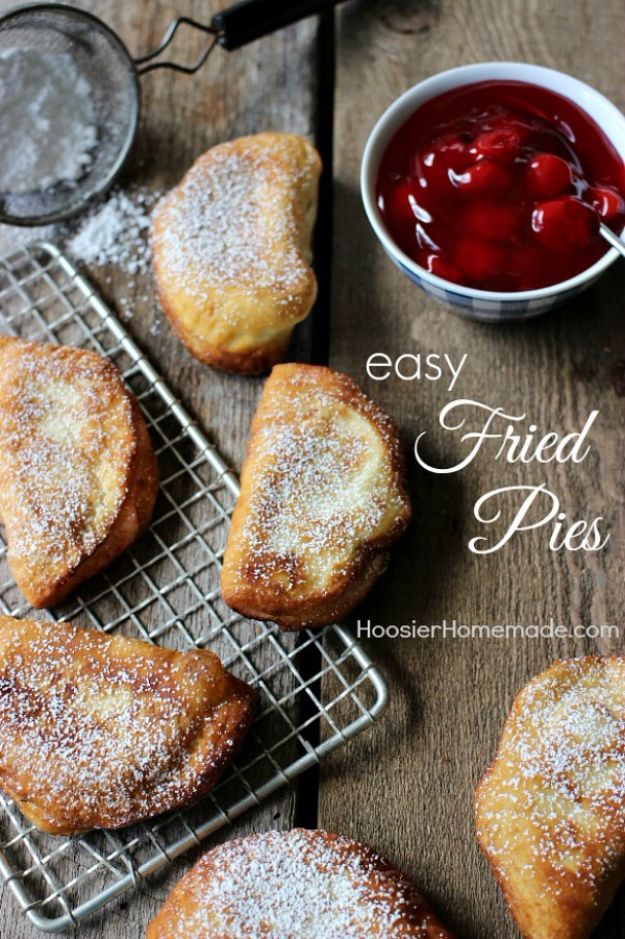 Best Canned Biscuit Recipes - Easy Fried Pies - Cool DIY Recipe Ideas You Can Make With A Can of Biscuits - Easy Breakfast, Lunch, Dinner and Desserts You Can Make From Pillsbury Pull Apart Biscuits - Garlic, Sour Cream, Ground Beef, Sweet and Savory, Ideas with Cheese - Delicious Meals on A Budget With Step by Step Tutorials http://diyjoy.com/best-recipes-canned-biscuits