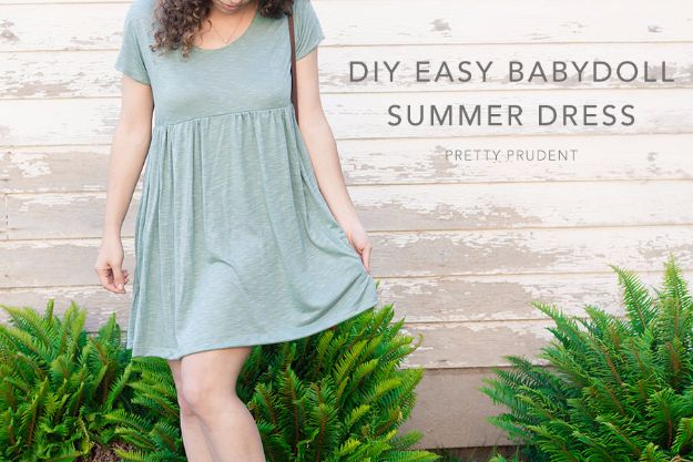DIY Dresses to Sew for Summer - Easy Summer Babydoll Dress - Best Free Patterns For Dress Ideas - Easy and Cheap Clothes to Make for Women and Teens - Step by Step Sewing Projects - Short, Summer, Winter, Fall, Inexpensive DIY Fashion