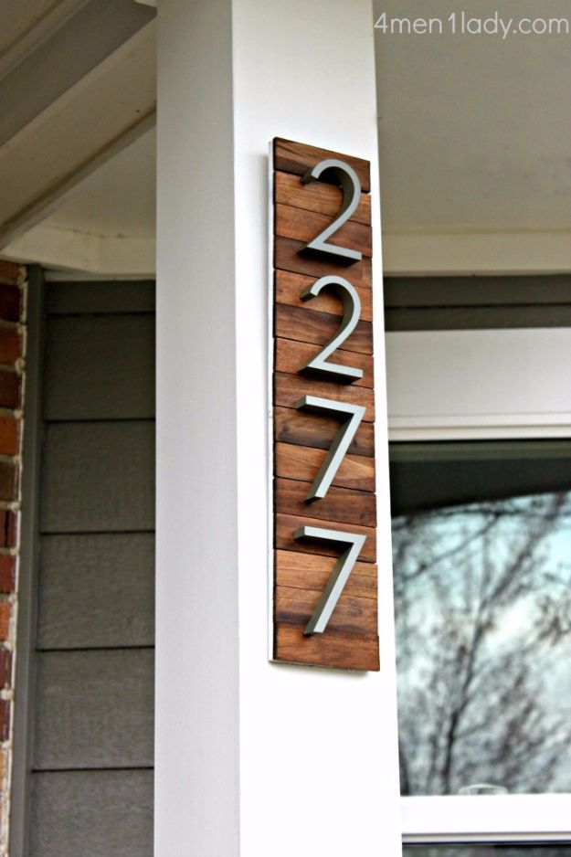 DIY House Numbers - Elegant House Number - DIY Numbers To Put In Front Yard and At Front Door - Architectural Numbers and Creative Do It Yourself Projects for Making House Numbers - Easy Step by Step Tutorials and Project Ideas for Home Improvement on A Budget http://diyjoy.com/diy-house-numbers