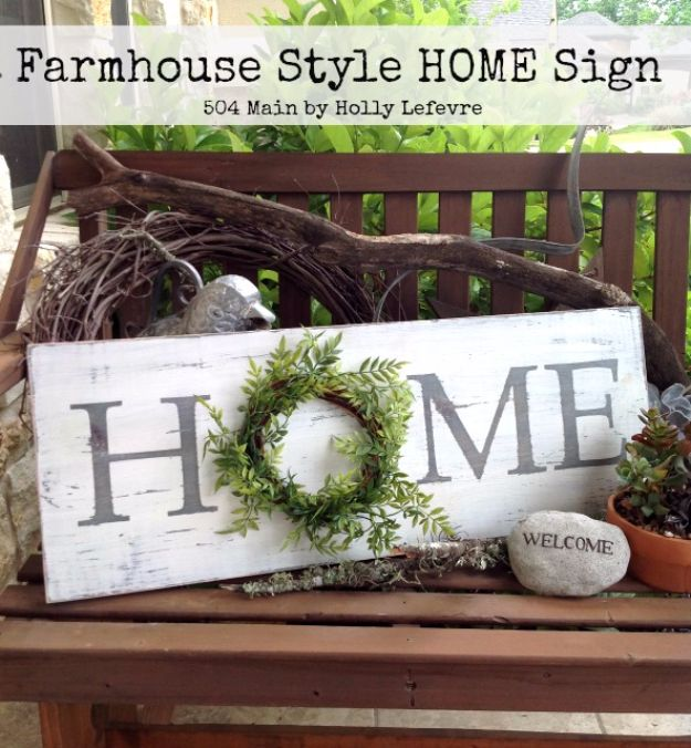 DIY Wall Letters and Word Signs - Farmhouse Style Inspired Home Sign - Initials Wall Art for Creative Home Decor Ideas - Cool Architectural Letter Projects and Wall Art Tutorials for Living Room Decor, Bedroom Ideas. Girl or Boy Nursery. Paint, Glitter, String Art, Easy Cardboard and Rustic Wooden Ideas - DIY Projects and Crafts by DIY JOY http://diyjoy.com/diy-letter-word-signs