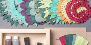 She Cuts Designs In Felt And Rolls Them. What She Makes Is Breathtaking!