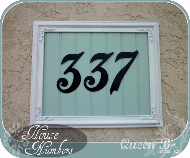 DIY House Numbers - Framed House Number - DIY Numbers To Put In Front Yard and At Front Door - Architectural Numbers and Creative Do It Yourself Projects for Making House Numbers - Easy Step by Step Tutorials and Project Ideas for Home Improvement on A Budget #homeimprovement #diyhomedecor