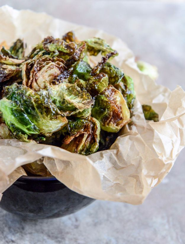 Best Brussel Sprout Recipes - Fried Brussels Sprouts With Smoky Honey Aioli - Easy and Quick Delicious Ideas for Making Brussel Sprouts With Bacon, Roasted, Creamy, Healthy, Baked, Sauteed, Crockpot, Grilled, Shredded and Salad Recipe Ideas #recipes
