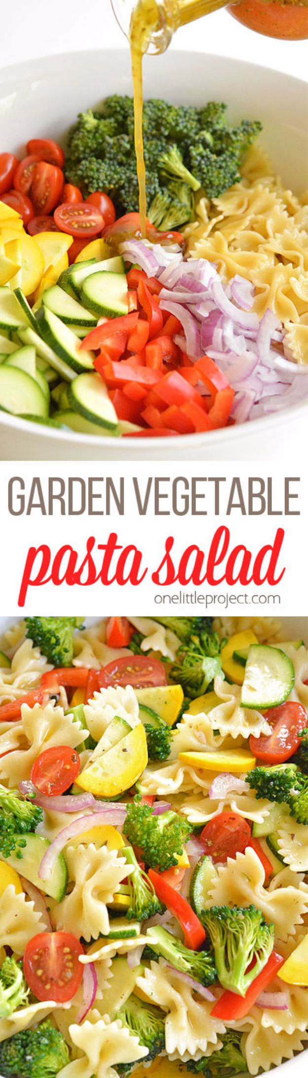 Best Dinner Salad Recipes - Garden Vegetable Pasta Salad - Easy Salads to Make for Quick and Healthy Dinners - Healthy Chicken, Egg, Vegetarian, Steak and Shrimp Salad Ideas - Summer Side Dishes, Hearty Filling Meals, and Low Carb Options #saladrecipes #dinnerideas #salads #healthyrecipes