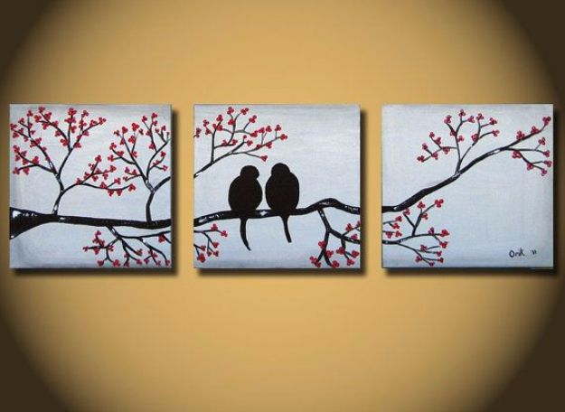 DIY Canvas Painting Ideas - Graceful Paintings Canvas - Cool and Easy Wall Art Ideas You Can Make On A Budget #painting #diyart #diygifts