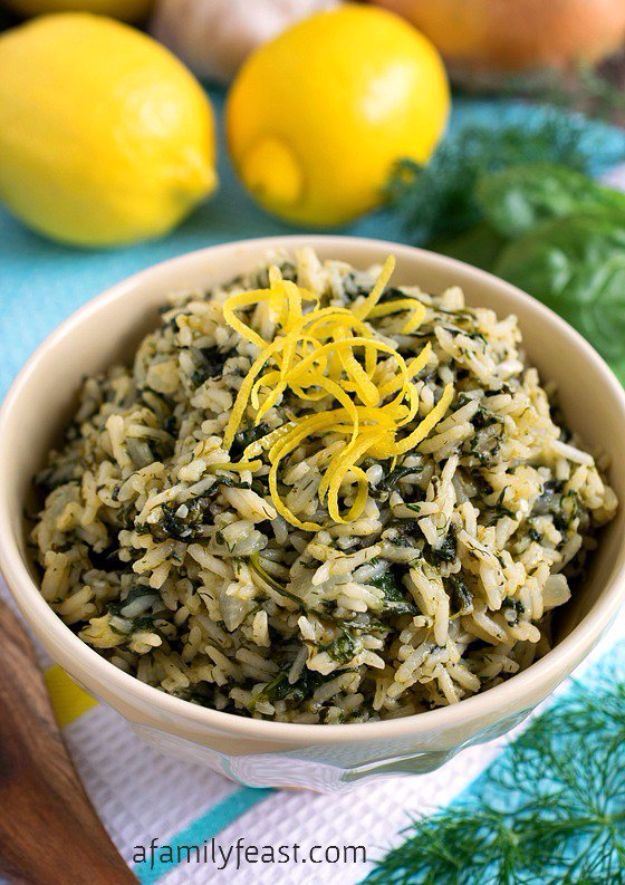 Best Rice Recipes - Greek Rice - Easy Ideas for Quick Meals Made From a Bag of Rice - Healthy Recipes With Brown, White and Arborio Rice - Cheesy, Fried, Asian, Mexican Flavored Dinner Dishes and Side Dishes - DIY Projects and Crafts by DIY JOY http://diyjoy.com/best-rice-recipes