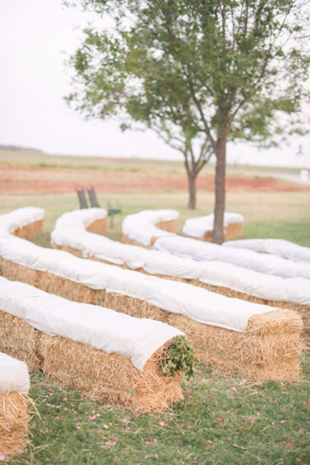 DIY Outdoors Wedding Ideas - Happy Farm Wedding - Step by Step Tutorials and Projects Ideas for Summer Brides - Lighting, Mason Jar Centerpieces, Table Decor, Party Favors, Guestbook Ideas, Signs, Flowers, Banners, Tablecloth #wedding #diy