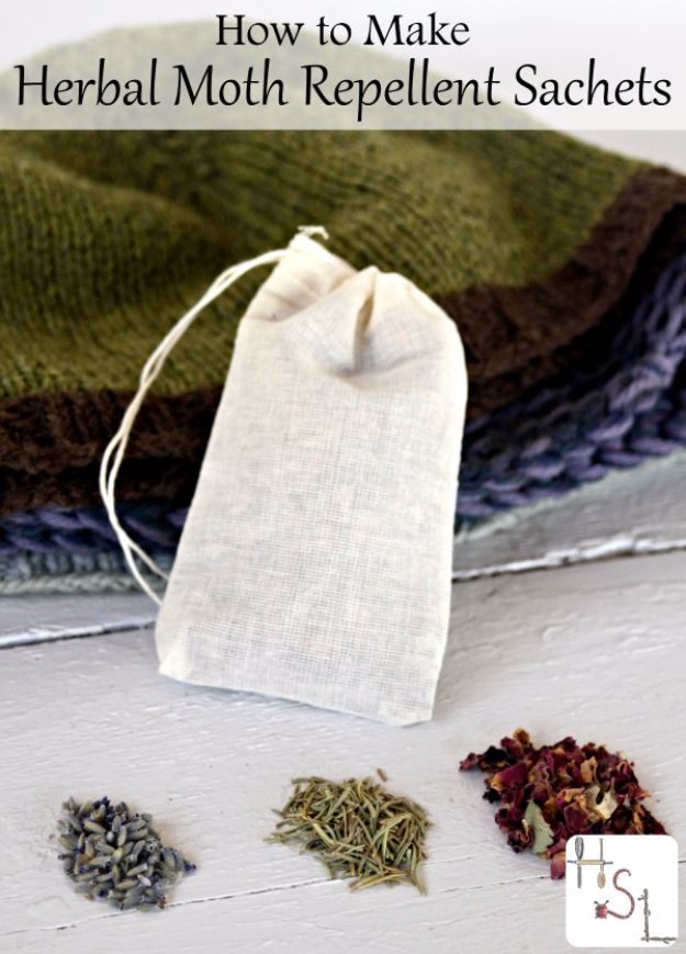 DIY Ideas with Dried Herbs - Herbal Moth Repellent - Creative Home Decor With Easy Step by Step Tutorials for Making Herb Crafts, Projects and Recipes - Cool DIY Gift Ideas and Cheap Homemade Gifts - DIY Projects and Crafts by DIY JOY #diy #herbs #gifts