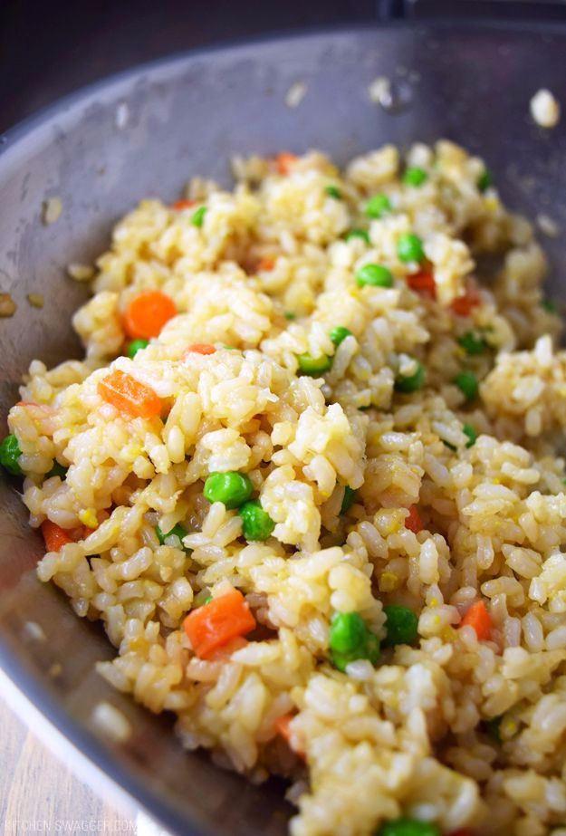 Best Rice Recipes - Hibachi-Style Fried Rice - Easy Ideas for Quick Meals Made From a Bag of Rice - Healthy Recipes With Brown, White and Arborio Rice - Cheesy, Fried, Asian, Mexican Flavored Dinner Dishes and Side Dishes - DIY Projects and Crafts by DIY JOY