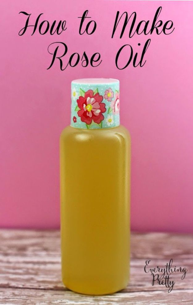 DIY Ideas With Rose Petals - Homemade Rose Oil - Crafts and DIY Projects, Recipes You Can Make With Rose Petals - Creative Home Decor and Gift Ideas Make Awesome Mothers Day and Christmas Gifts - Crafts and Do It Yourself by DIY JOY http://diyjoy.com/diy-ideas-rose-petals