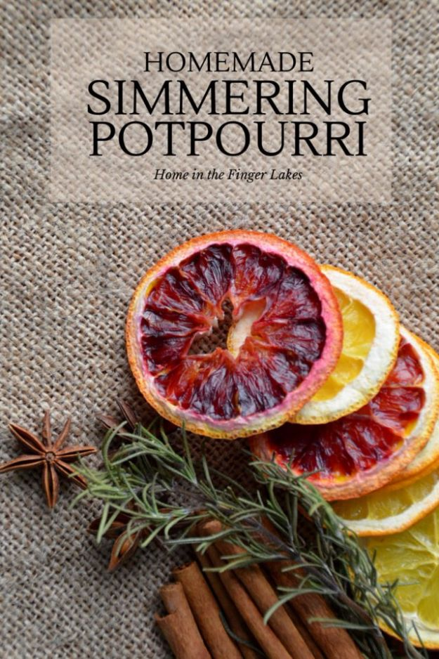 DIY Ideas with Dried Herbs - Homemade Simmering Potpourri - Creative Home Decor With Easy Step by Step Tutorials for Making Herb Crafts, Projects and Recipes - Cool DIY Gift Ideas and Cheap Homemade Gifts - DIY Projects and Crafts by DIY JOY #diy #herbs #gifts