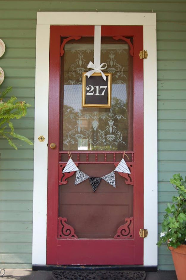 DIY House Numbers - House Number Frame - DIY Numbers To Put In Front Yard and At Front Door - Architectural Numbers and Creative Do It Yourself Projects for Making House Numbers - Easy Step by Step Tutorials and Project Ideas for Home Improvement on A Budget http://diyjoy.com/diy-house-numbers