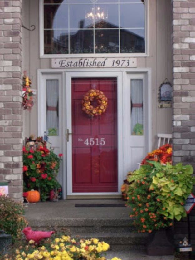 DIY House Numbers - House Number Painted On Front Door - DIY Numbers To Put In Front Yard and At Front Door - Architectural Numbers and Creative Do It Yourself Projects for Making House Numbers - Easy Step by Step Tutorials and Project Ideas for Home Improvement on A Budget #homeimprovement #diyhomedecor