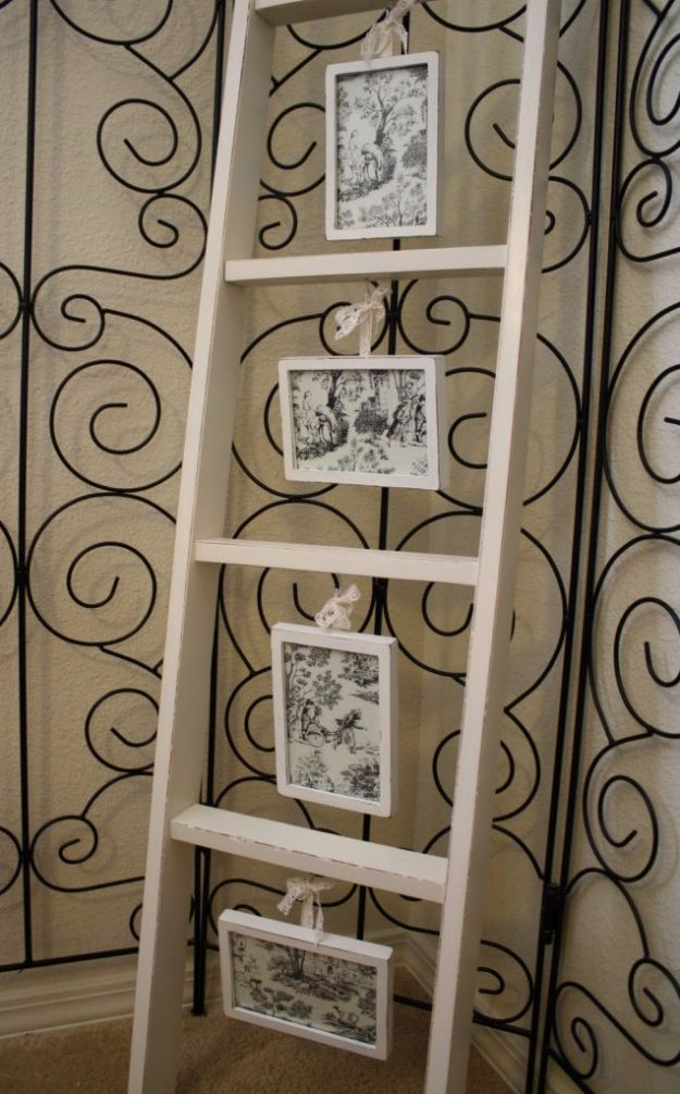 Tips and Tricks for Hanging Photos and Frames - Ladder Gallery - Step By Step Tutorials and Easy DIY Home Decor Projects for Decorating Walls - Cool Wall Art Ideas for Bedroom, Living Room, Gallery Walls - Creative and Cheap Ideas for Displaying Photos and Prints - DIY Projects and Crafts by DIY JOY #diydecor #decoratingideas