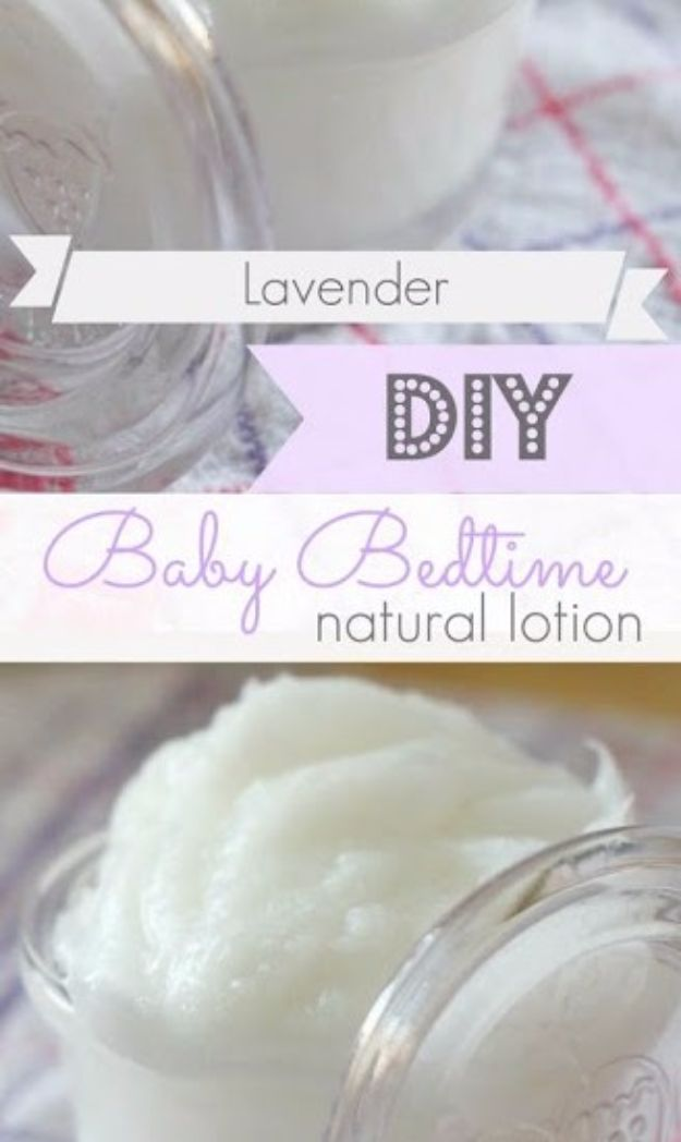DIY Lavender Recipes and Project Ideas - Lavender Essential Oil Baby Bedtime Lotion - Food, Beauty, Baking Tutorials, Desserts and Drinks Made With Fresh and Dried Lavender - Savory Lavender Recipe Ideas, Healthy and Vegan #lavender #diy