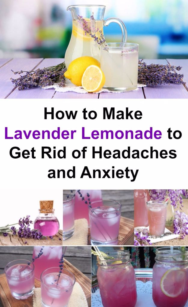 DIY Lavender Recipes and Project Ideas - Lavender Lemonade - Food, Beauty, Baking Tutorials, Desserts and Drinks Made With Fresh and Dried Lavender - Savory Lavender Recipe Ideas, Healthy and Vegan - DIY Projects and Crafts by DIY JOY http://diyjoy.com/diy-projects-lavender-herbs